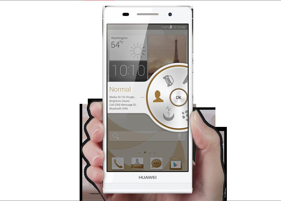 Huawei Ascend P6 interfaz UI
