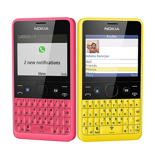 Nokia Asha 210 en México tecla dedicada a Facebook