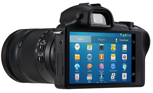 Samsung Galaxy NX Android Camera oficial 20 MP