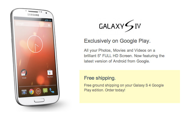 Galaxy S4 Google Edition con Android 4.3