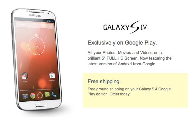 Galaxy S4 Google Edition con Android 4.3
