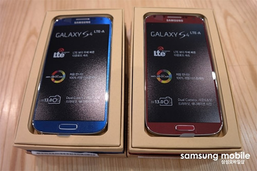 Samsung Galaxy S4 LTE-A Unboxing color rojo y azul