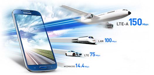 Samsung Galaxy S4 LTE-A Azul velocidad de descarga