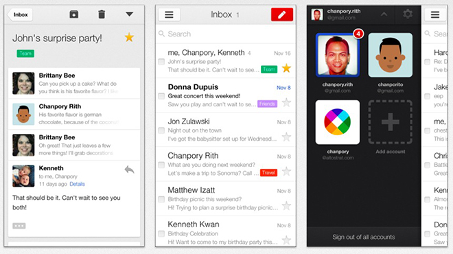App de Gmail en iOS