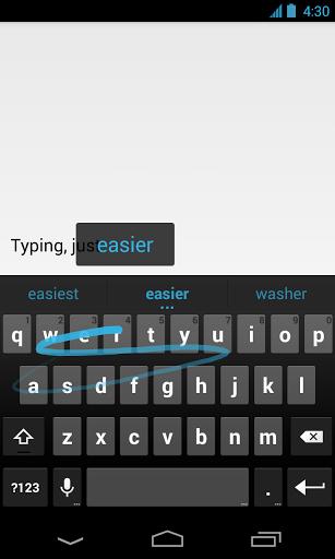 Google Keyboard el teclado Android swype gestual