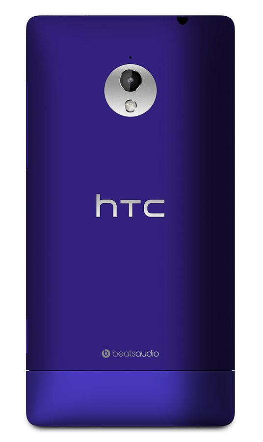 HTC 8XT con Windows Phone 8 morado cámara trasera