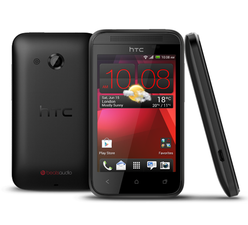 HTC Desire 200 oficial color negro