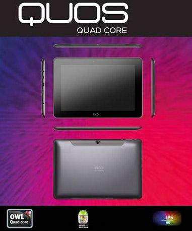 Inco Quos tablet quad-core tamaño