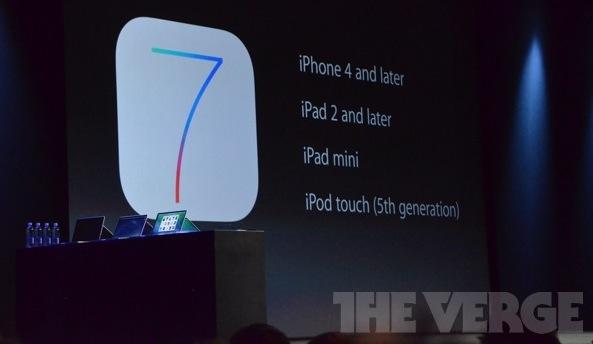 Compatibilidad de iOS 7