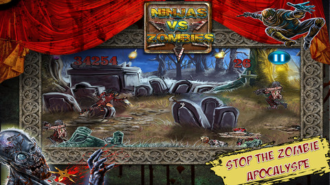 App Ninja Warriors vs A Zombie Horde