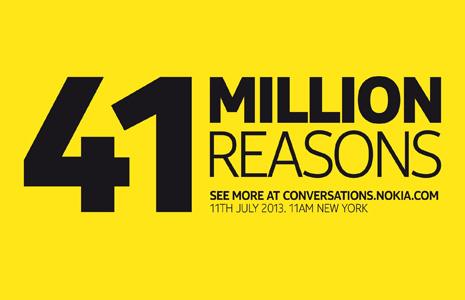 Nokia 41 Megapixeles evento 11 de julio - 41 Million Reasons