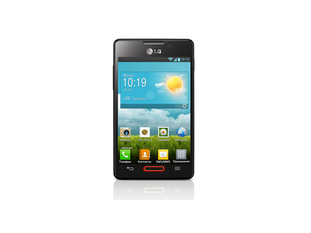LG Optimus L4 II color negro pantalla