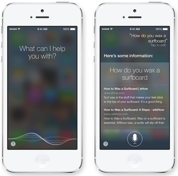 Siri en iOS 7
