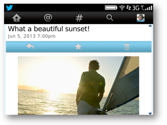 Twitter app para BlackBerry 5