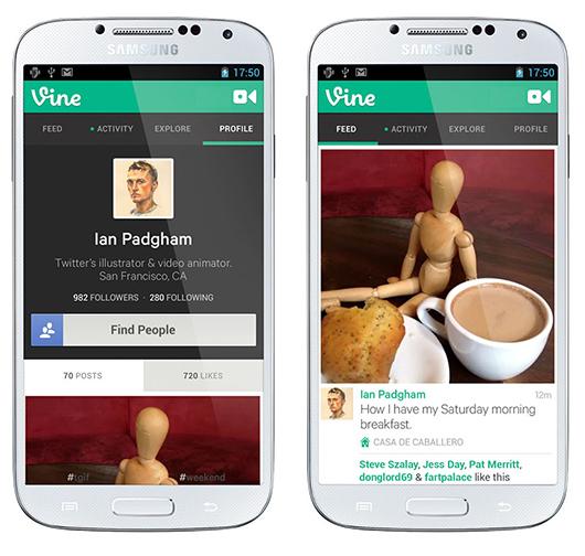 Vine para Android en Galaxy S4