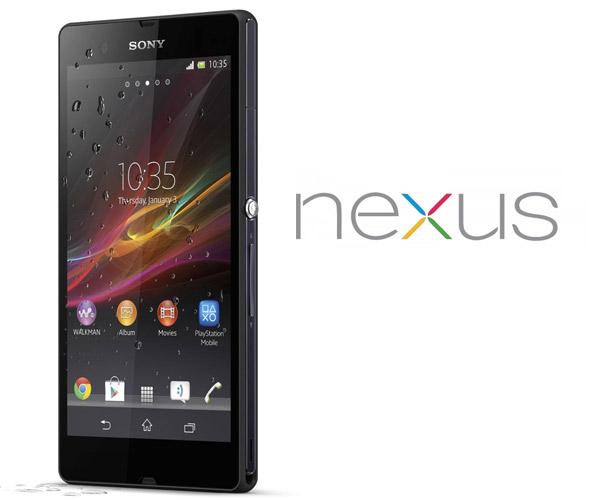Sony Xperia Z con Nexus Logo
