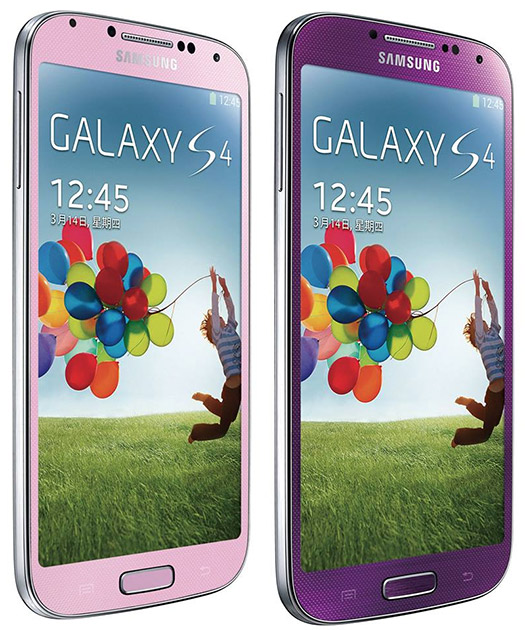 Samsung Galaxy S4 en color Morado Purple Mirage y Rosa Pink Twilight