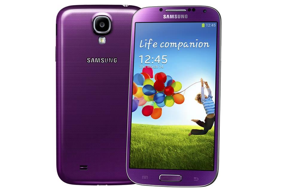 Samsung Galaxy S4 en color Morado Purple Mirage