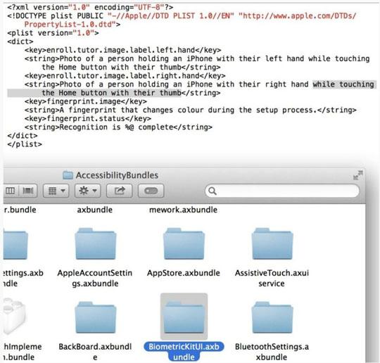 Descubren referencias a reconocimiento de huella en iOS 7