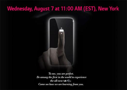 LG Optimus G2 será presentado el 7 de agosto envían invitaciones y nuevo teaser