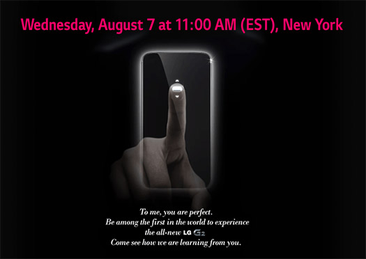 LG Optimus G2 invitación agosto 7 2013