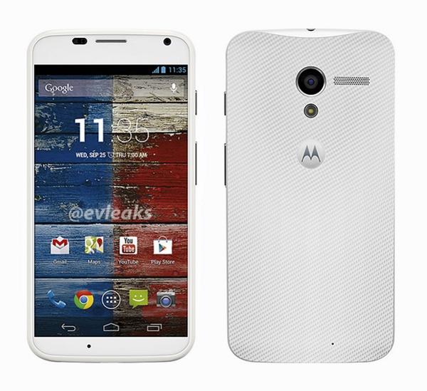 Motorola Moto X en color blanco render oficial