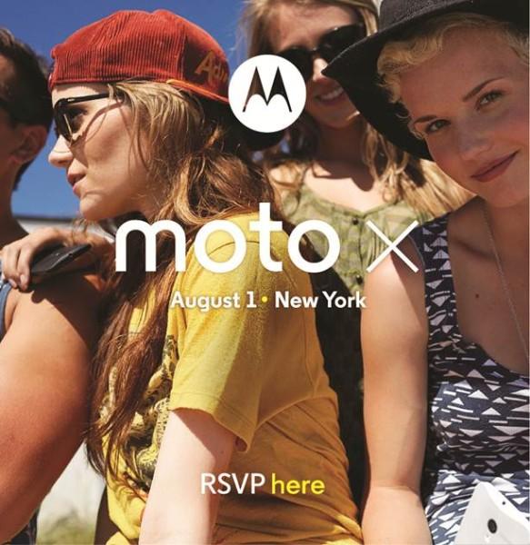 Motorola Moto X Invitación agosto 1 2013