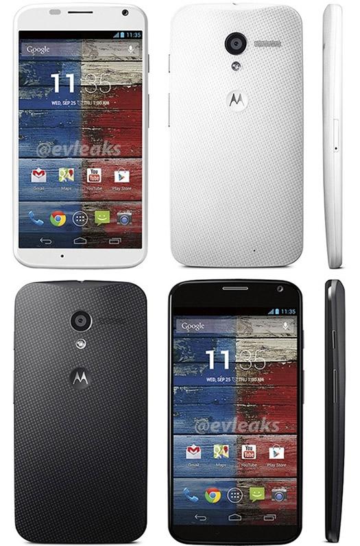 Motorola Moto X colores blanco y negro