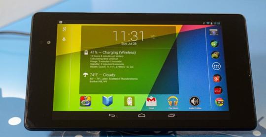 El Nexus 7 se carga inalámbricamente