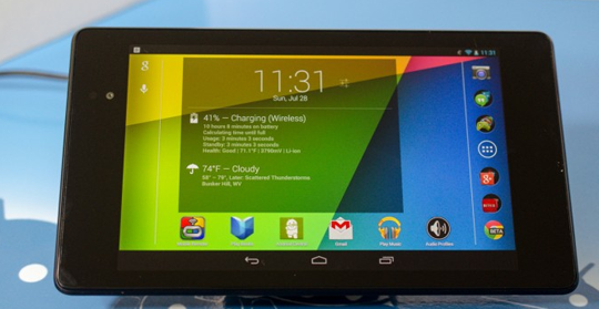 Nexus 7 carga inalámbrica