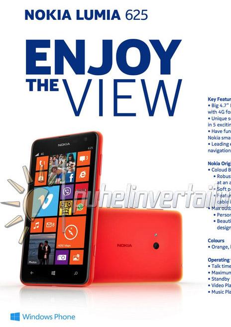 Nokia Lumia 625 filtración
