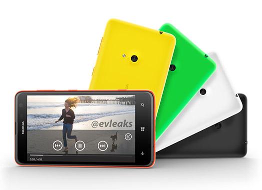 Nokia Lumia 625 filtración colores