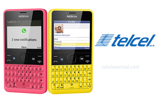 Nokia Asha 210 en México con Telcel