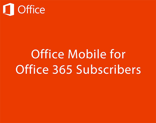 Office Mobile para Office 365 Android app Logos