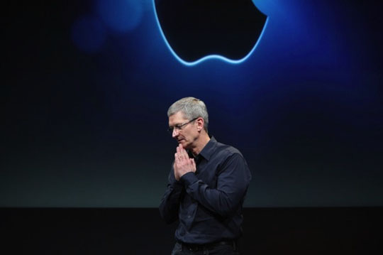 Tim Cook presenta ganancias de Apple