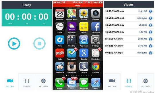 xRec en iPhone