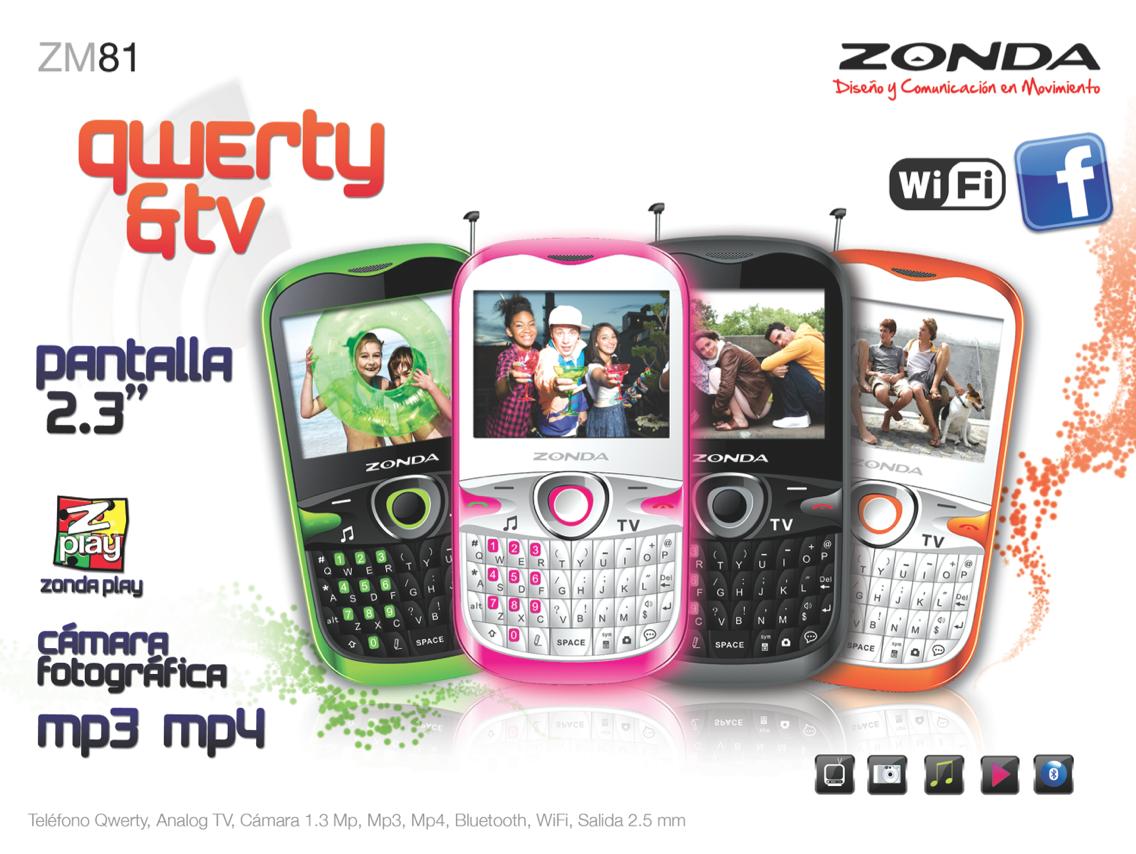Zonda ZM81 QWERTY con WiFi y TV en México