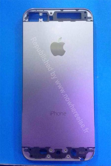 El iPhone 5S parte trasera cubierta