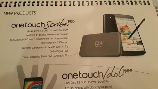 Alcatel One Touch Scribe Pro y Idol mini