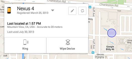 Android Device Manager Localiza tu Android perdido