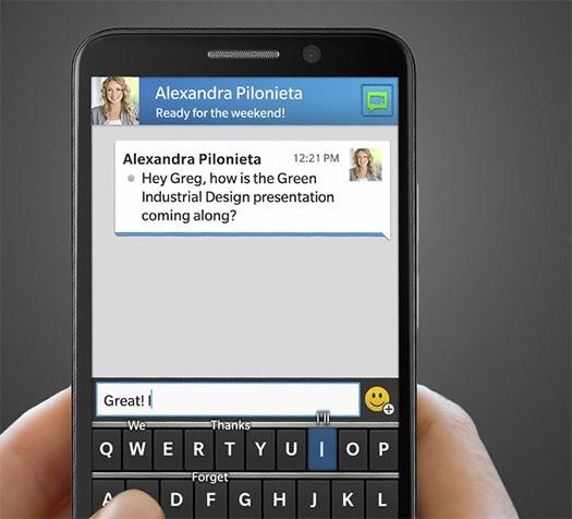 "BlackBerry Z30 con 5"" HD en pantalla"