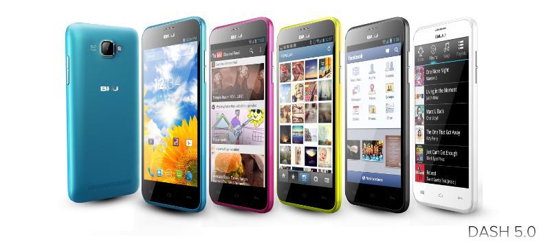 Blu Dash Music 5.0 gama de colores