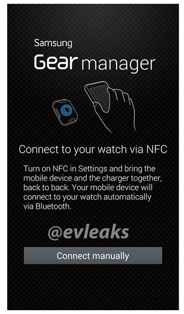 Galaxy Gear manager app vincunlación paired