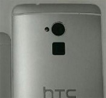 HTC One Max con lector de huella digital detalle