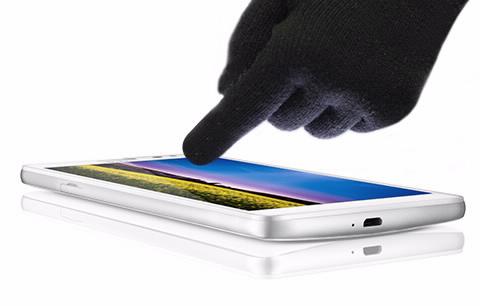 Huawei Ascend Mate phablet en México, soporte con guantes Magic Touch