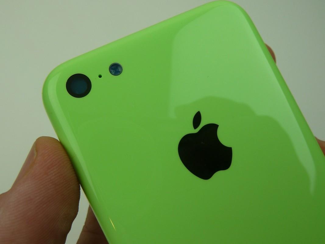 iPhone 5C color verde brillante Green de lado