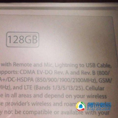 El iPhone 5S  caja de 128 GB golden