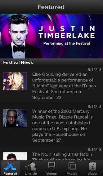 App iTunes Festival