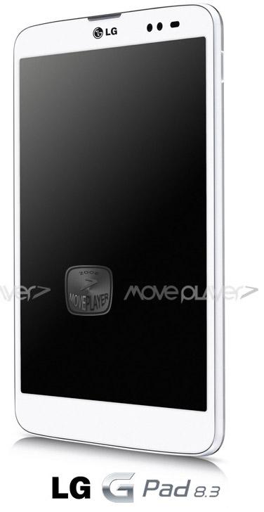LG G Pad 8.3 en primer render