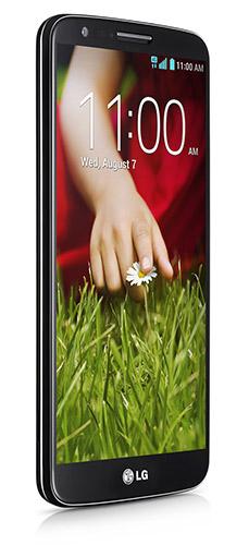 """LG G2 de lado pantalla 5.2"""" Full HD IPS"""